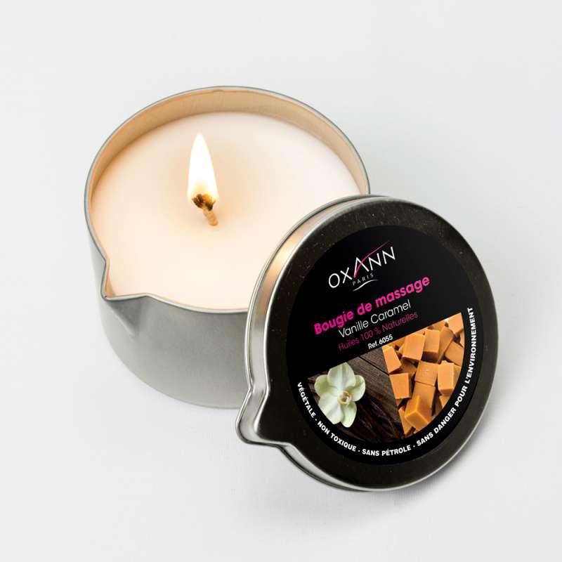 Bougie de massage parfum vanille caramel